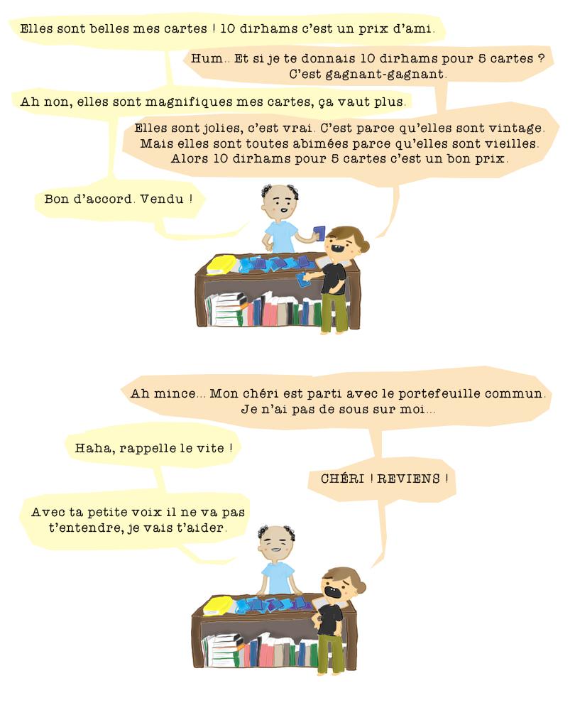 carte postale chefchaouen bd humour