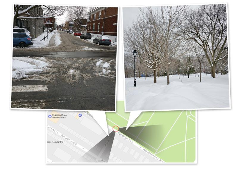 angle neige montreal