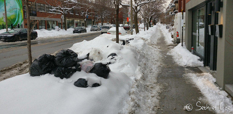 poubelle hiver montreal