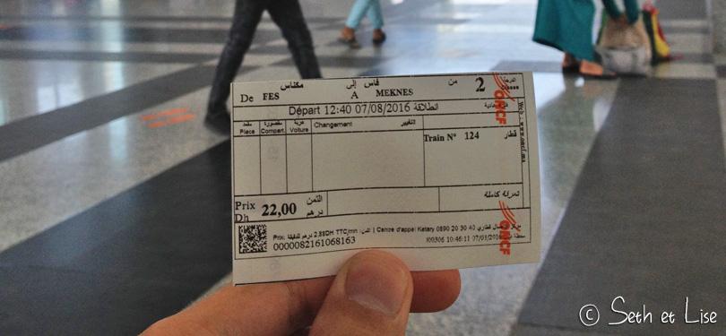 maroc train ticket