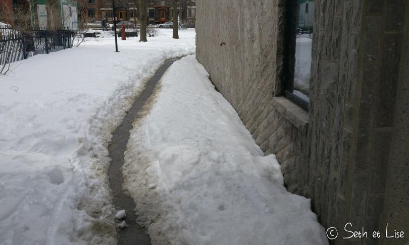 montreal snow path