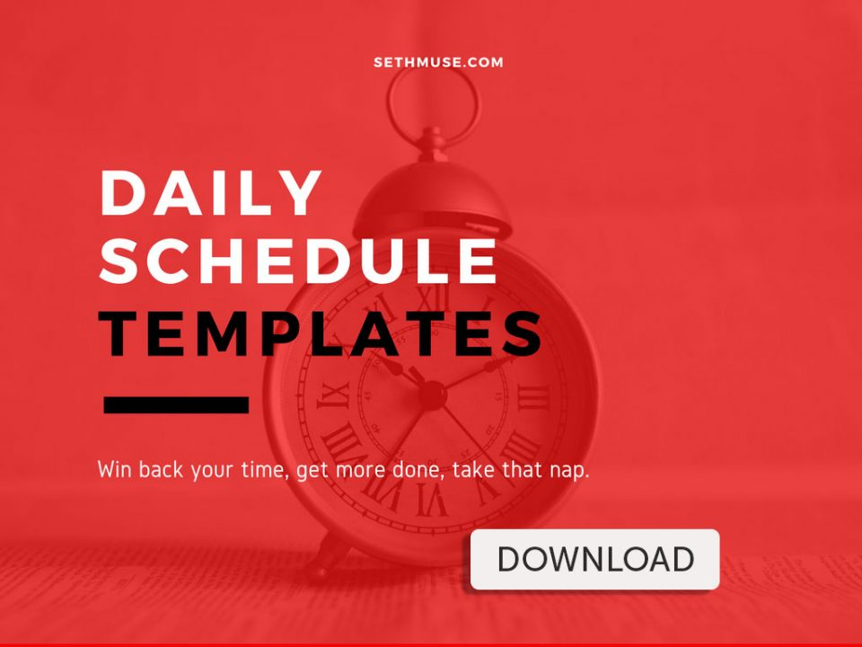 Take back your day with this free daily schedule template.