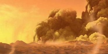 Mars sandstorm