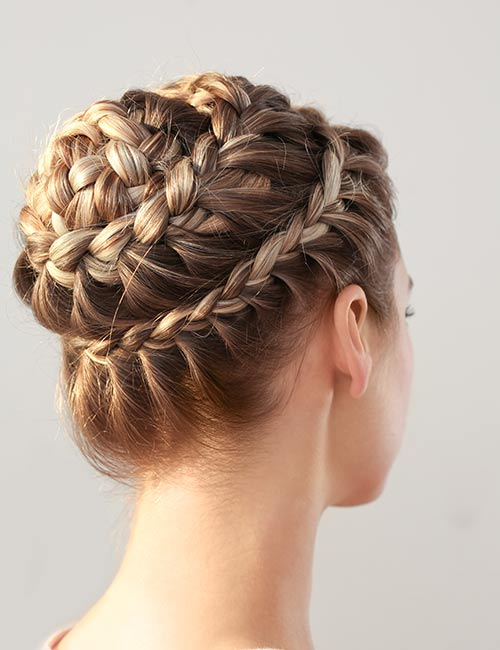 Crowned Waterfall Updo Hairstyle