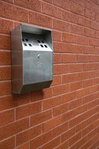 Wall Mounted Cigarette Bin