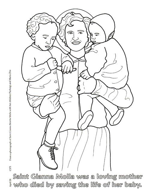 Preview Communion Of Saints Coloring Book
