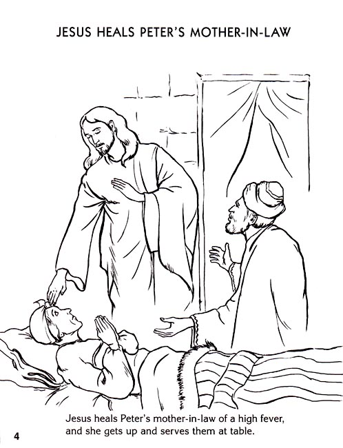 Miracles Of Jesus Coloring Pages Sketch Coloring Page