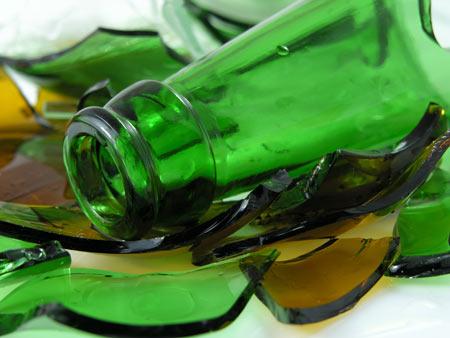 reciclagem vidro quebrado
