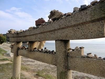 Torii on Naoshima Beach