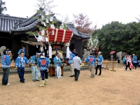 Taikodai at Karato Matsuri on Teshima