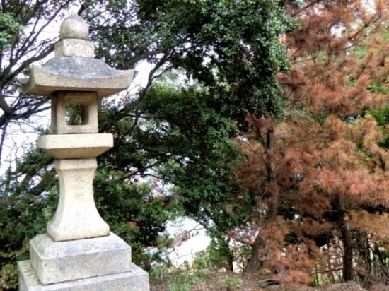 Lantern at Hachiman shrine in Karato,Teshima