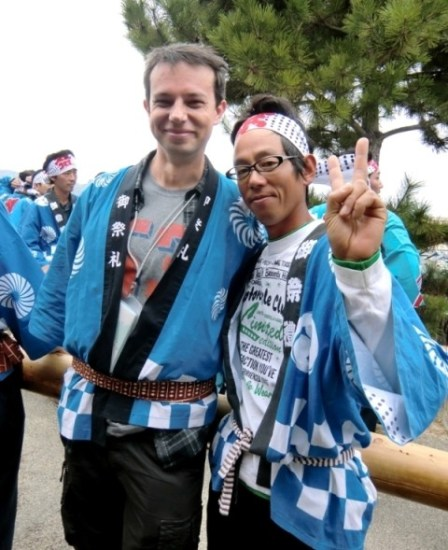 I made new friends at the Kataro Matsuri on Teshima