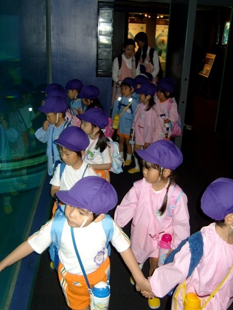 Kids in Osaka Aquarium