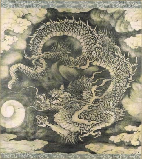 Dragon among clouds