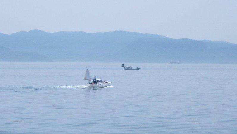 Fishermen's boats near Ogijima