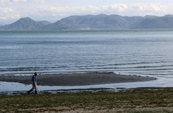 Man on Naoshima Beach