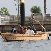 Traditional Japanese Boat Launching in Takamatsu