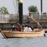 Traditional Japanese Boat Launching in Takamatsu