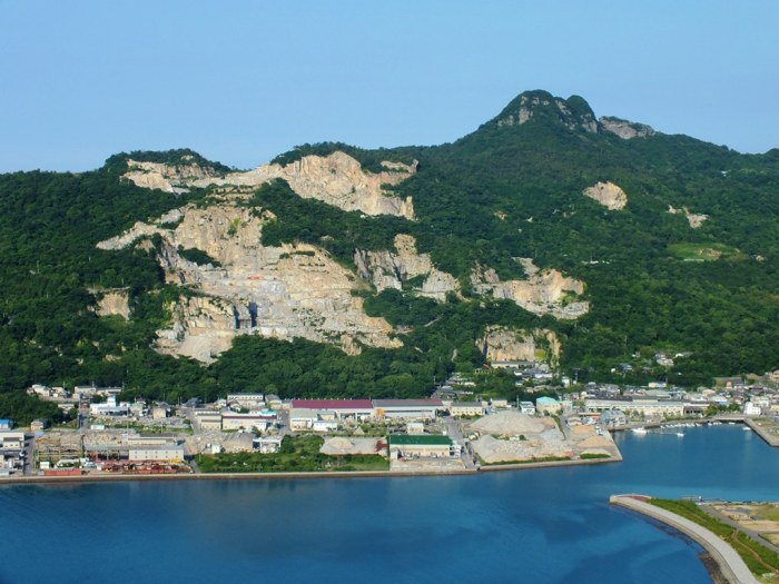 Aji Quarry on Mount Nyotai and Mount Goken