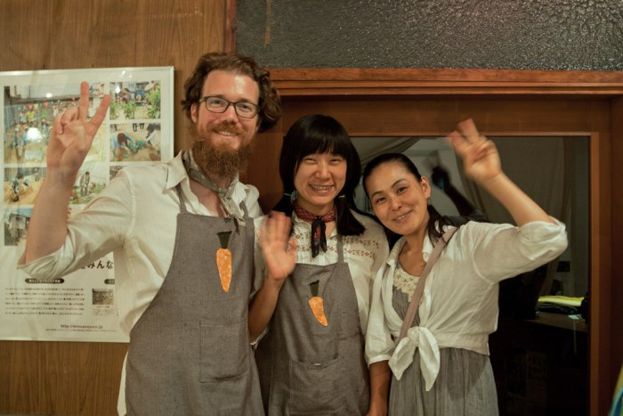 the REAL time FOOD team: Patrick Lydon, Suhee Kang, Kaori Tsuji