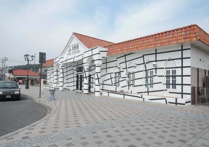 Uno Station - JR Uno Port Line Art Project