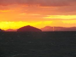 Sunset over the Seto Inland Sea and the Great Seto Bridge - 2