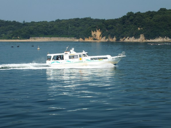 Teshima Art Line speed boat going to its home island.