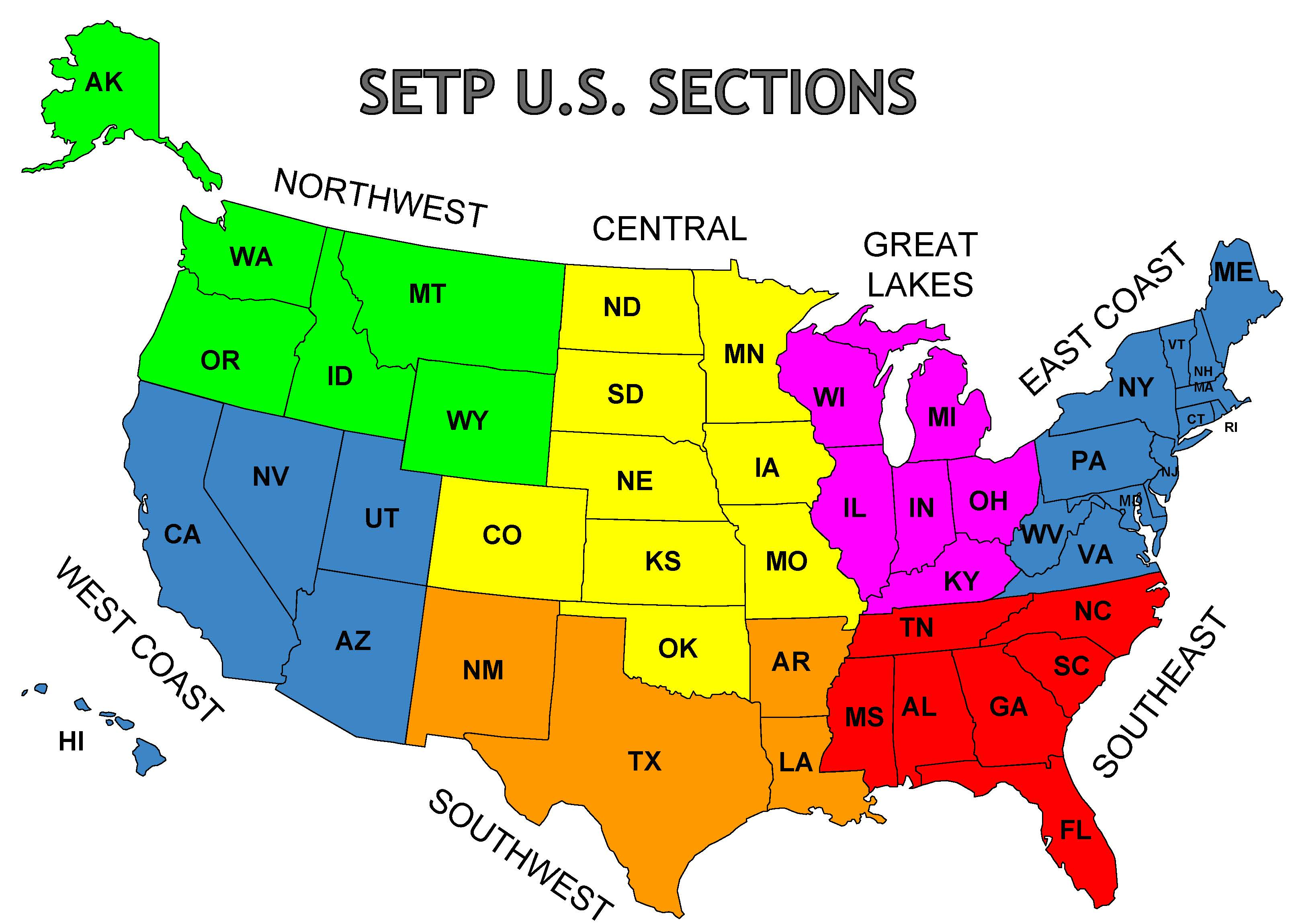 Found in the norhern and western hemispheres, the country is bordered by the atlantic ocean in the east and the pacific ocean in … Map Of Setp U S Sections Setp Sections
