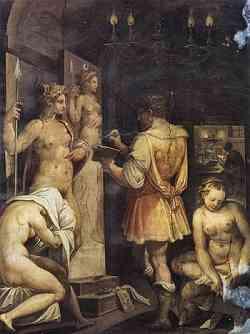 Manierismo - Casa Vasari - El estudio del pintor