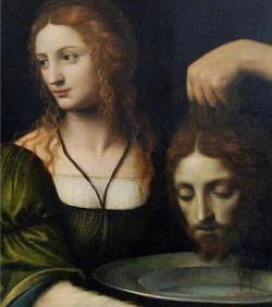 Salomè con la testa del Giovanni Battista sul bacile