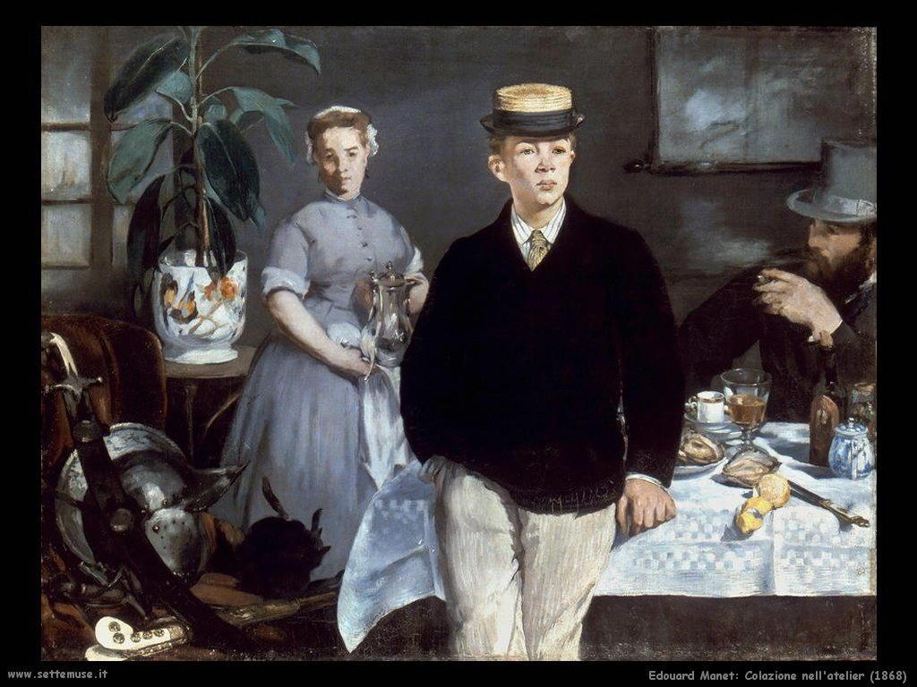EDOUARD MANET dipinto COLAZIONE NELL ATELIER  Settemuseit