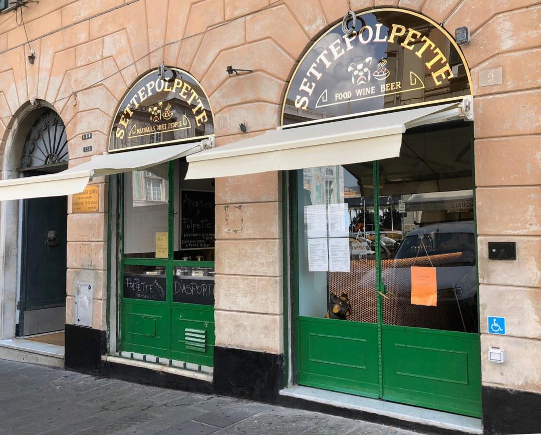 Settepolpette, Ristorante nel cuore di Genova, lungo il percorso che dal Centro storico conduce al Porto Antico e all'Acquario
