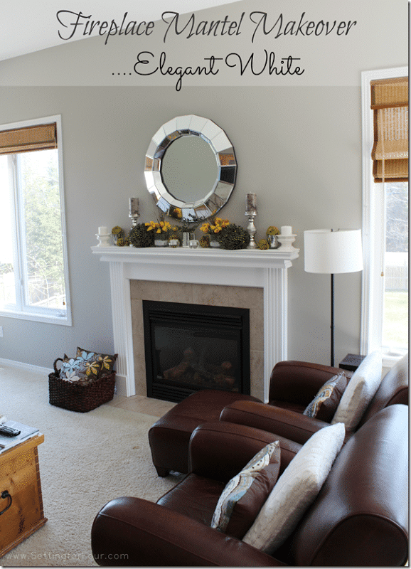 My Fireplace Mantel Reveal  A Before and After Makeover with Paint  Setting for Four