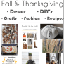 Sixteen Inspiring Fall And Thanksgiving Diy S Crafts And