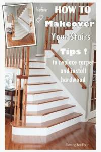 How to Makeover Your Stairs // Tips to Replace Carpet and ...