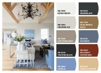 Blue, Grey and White Living Room Color Palette - Setting ...