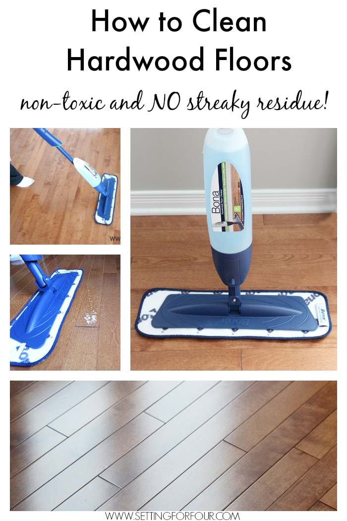 Floor Care Tips and Free Spring Cleaning Printable  Setting for Four