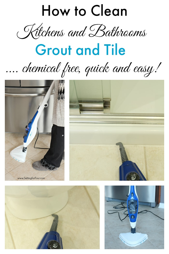 cleaning kitchen floors high end faucets how to clean tile the chemical free way setting for four this is best and bathroom grout non toxic