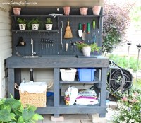 DIY Pallet Potting Bench - Sneak Peek - Setting for Four