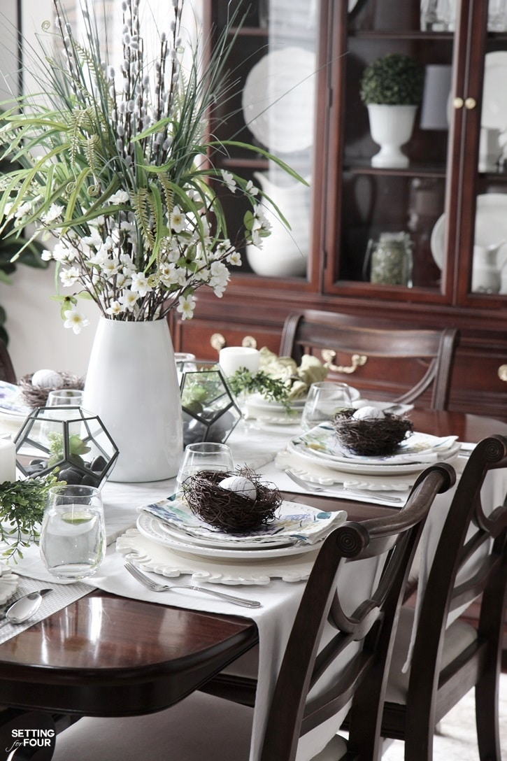 White And Black Centerpiece Ideas Table Lime Green