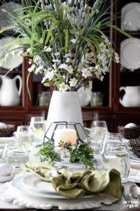 Beautiful, Natural Table Setting for Spring - Setting for Four