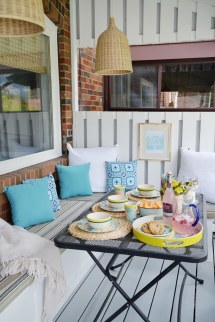 Outdoor Patio Decor Ideas Blue