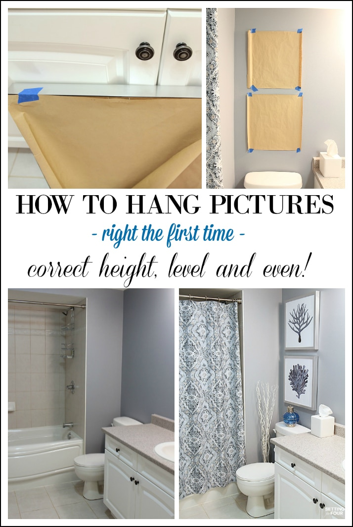 Height Measurements and How To Hang Pictures In A Bathroom
