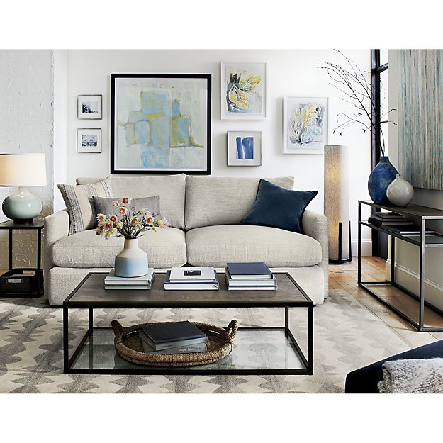 Living Room Navy Sofa