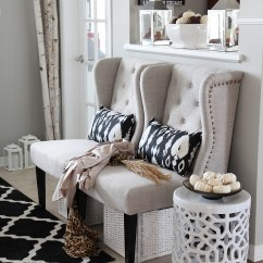 Rattan Wingback Chairs Chair Cover And Sash Hire Newcastle Neutral Glam Fall Tour Decor Ideas - Setting For Four