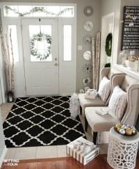 Elegant and Neutral Christmas Foyer - Setting for Four