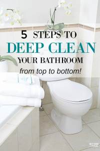 How To Deep Clean Your Bathroom in 5 Steps - Setting for Four