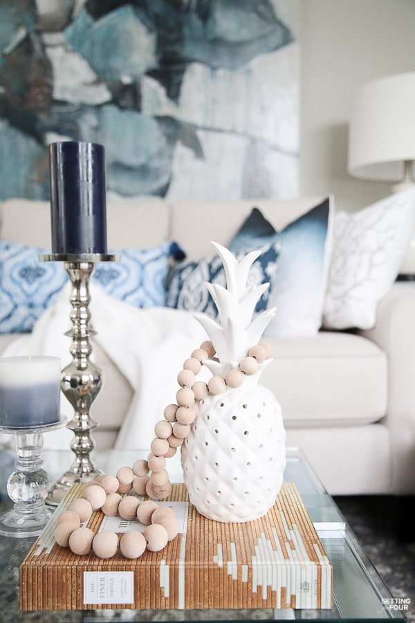 Decorating with Indigo Blue Black and Gray  Shades of