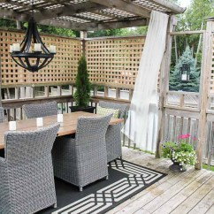 Wicker Porch Chairs Green Chair Upholstery Chico Ca Easy Diy Outdoor Curtain Rods In 10 Minutes - Setting For Four