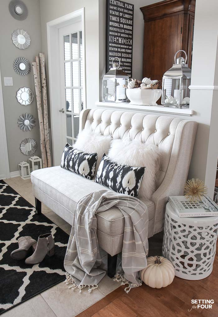 see my elegant fall entryway decor ideas to add warmth and texture to your home for